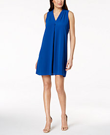 Vince Camuto Pleated Shift Dress