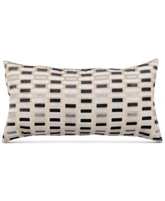 "Gray Velvet 13"" x 26"" Decorative Pillow"
