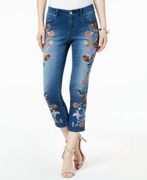 I.n.c. Embroidered Cropped Jeans, Created for Macy's 6047846