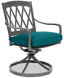 CLOSEOUT! Glenwood Outdoor Swivel Rocker with a Sunbrella® Cushion, Created for Macy's
