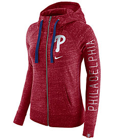 Nike Women's Philadelphia Phillies Gym Vintage Full Zip Hooded Sweatshirt