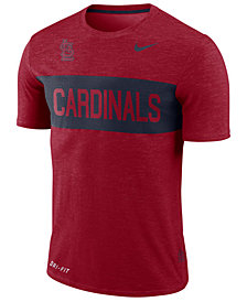 Nike Men's St. Louis Cardinals Dri-Fit Slub Stripe T-Shirt