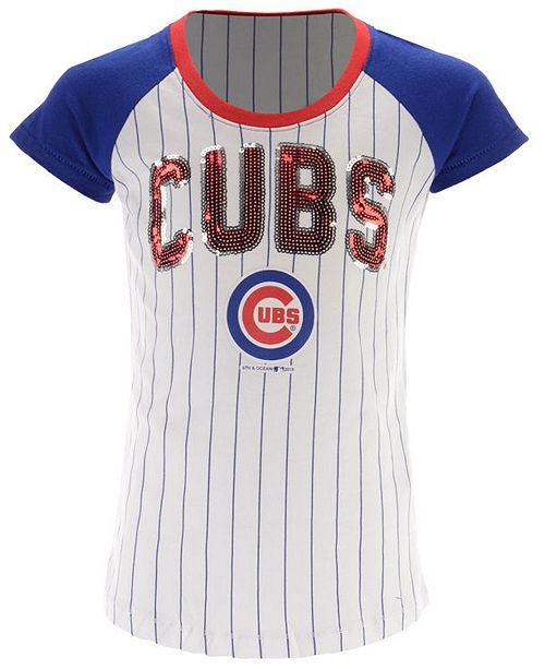 7fe9860b24b ... 5th   Ocean Chicago Cubs Sequin Pinstripe T-Shirt