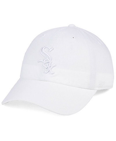 '47 Brand Chicago White Sox White/White CLEAN UP Cap