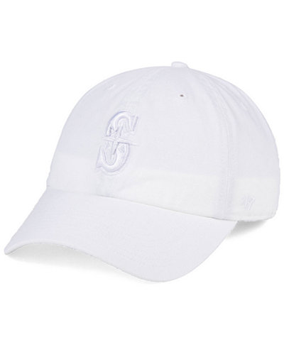 '47 Brand Seattle Mariners White/White CLEAN UP Cap