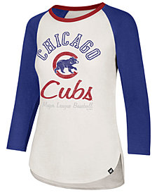 '47 Brand Women's Chicago Cubs Vintage Raglan T-Shirt