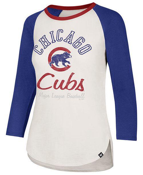 best service 65a23 f81cd Women's Chicago Cubs Vintage Raglan T-Shirt