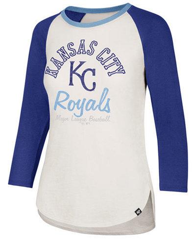 '47 Brand Women's Kansas City Royals Vintage Raglan T-Shirt