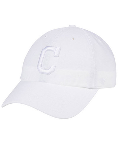 '47 Brand Cleveland Indians White/White CLEAN UP Cap
