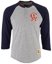 Mitchell & Ness Men's Los Angeles Angels 4-Button Henley T-Shirt