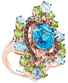 Crazy Collection® Multi-Gemstone Ring (12-1/2 ct. t.w.) in 14k Rose Gold