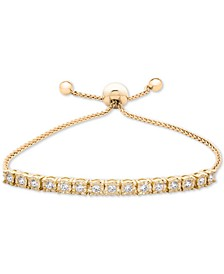 Wrapped™ Diamond Bolo Bracelet (1/2 ct. t.w.) in Sterling Silver, 14k Yellow Gold Over Silver, & 14k Rose Gold Over Silver, Created for Macy's