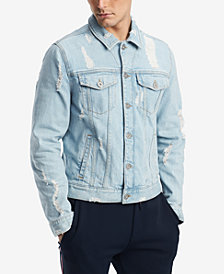 Tommy Hilfiger Men's Ripped Denim Jacket, Created for Macy's