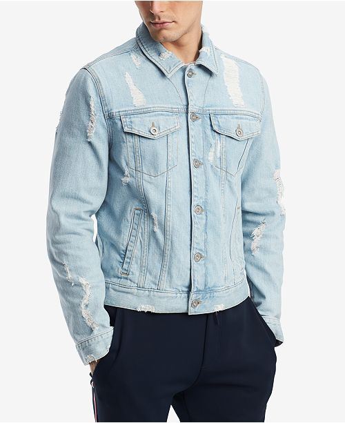 51fcf05768c ... Tommy Hilfiger Men s Ripped Denim Jacket