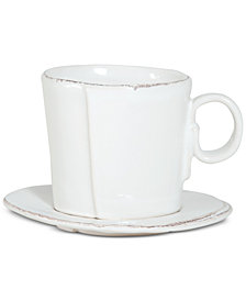 VIETRI Lastra Collection Espresso Cup & Saucer