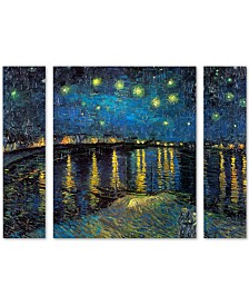 "Vincent van Gogh 'The Starry Night II' Multi Panel Art Set Large - 41"" x 30"" x 2"""