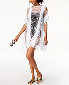 Kenneth Cole Sheer Fringe Cover-Up