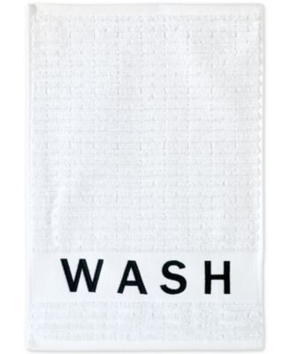 Chatter Cotton Embroidered Ribbed Fingertip Towel
