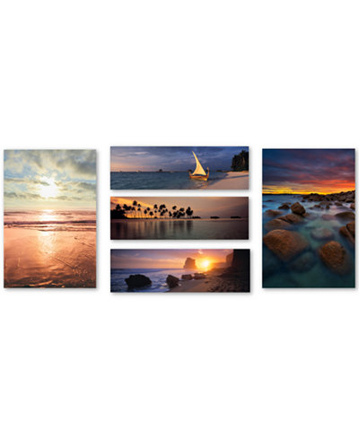 Beach Scenes 5-Pc. Canvas Wall Art Print Collection