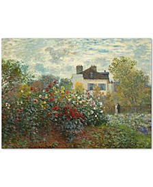 "Claude Monet 'The Artist's Garden In Argenteuil' Large Canvas Wall Art, 35"" x 47"""