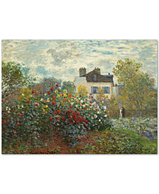 Claude Monet 'The Artist's Garden In Argenteuil' Large Canvas Wall Art