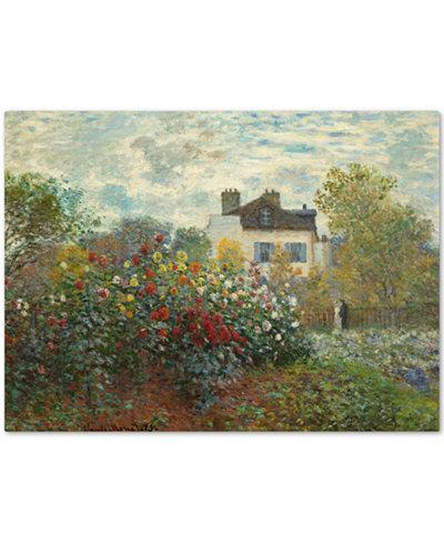 Claude Monet 'The Artist's Garden In Argenteuil' Large Canvas Wall Art