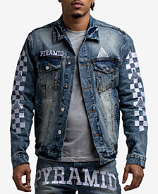 Black Pyramid Men's Checkered Denim Jacket