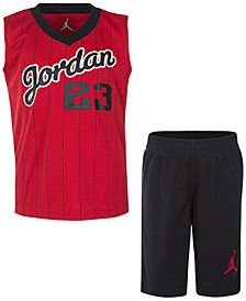 Jordan Little Boys 2-Pc. 23-Print Tank & Shorts Set