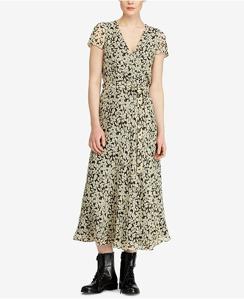 00df11953bc Polo Ralph Lauren Floral-Print Wrap Dress   Reviews - Dresses ...