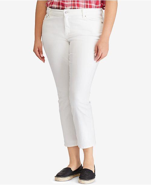 17be22f8d8727 Lauren Ralph Lauren. Plus Size Premier Straight Crop Jeans. 1 reviews. main  image ...