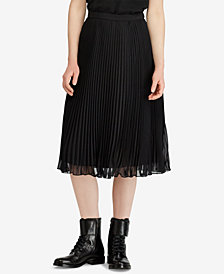 Polo Ralph Lauren Georgette Pleated Skirt