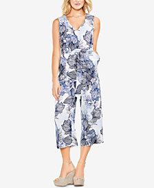 Vince Camuto Floral-Print Belted Jumpsuit
