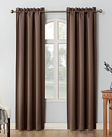 "Sun Zero Shaw Theater Grade 80"" x 95"" Extreme Blackout Rod Pocket Curtain Panel Pair"