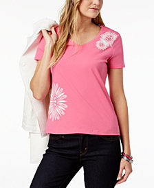 Tommy Hilfiger Floral-Graphic T-Shirt, Created for Macy's