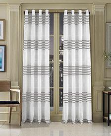 J Queen New York Freeport Stripe Grommet Curtain Panels