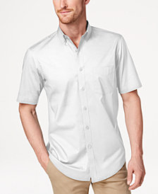 Club Room Men's Stretch Moisture Wicking Solid Shirt, Created for Macy's