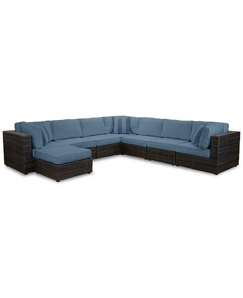 Furniture Viewport Outdoor 8 Pc Modular Seating Set 3 Corner Units 4