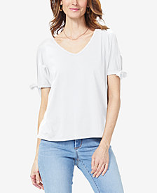 NYDJ V-Neck Tie-Sleeve T-Shirt