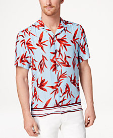 I.N.C. Men's Hani Floral Camp Collar Shirt, Created for Macy's