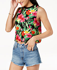 The Edit By Seventeen Juniors' Printed Crop Top, Created for Macy's