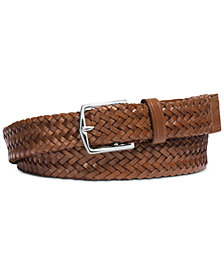 Michael Kors Men's Braided Leather Belt