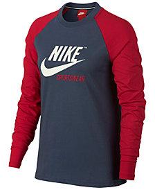Nike Sportswear Cotton Archive Long-Sleeve T-Shirt
