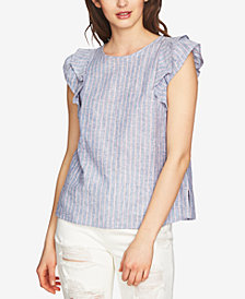 1.STATE Linen Striped Top
