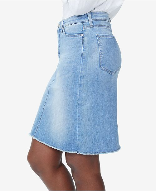 00be7f9ad7 NYDJ Frayed-Hem Denim Skirt & Reviews - Skirts - Juniors - Macy's