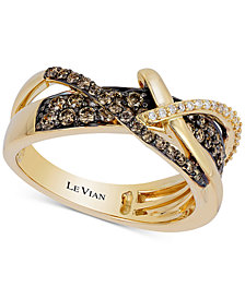 Le Vian Chocolatier® Gladiator Weave™ Diamond Crisscross Ring (5/8 ct. t.w.) in 14k Gold
