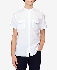 Calvin Klein Jeans Men's Banded Panama Weave Utility Shirt