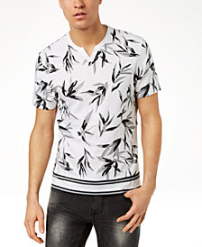 I.N.C. Men's Shadow Leaf T-Shirt, Created for Macy's