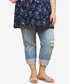Motherhood Maternity Plus Size Cropped Jeans