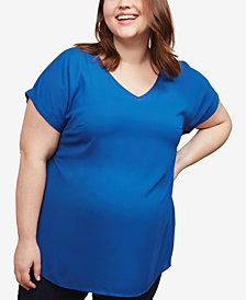 Motherhood Maternity Plus Size V-Neck Top