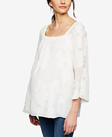 A Pea In The Pod Maternity Jacquard Top